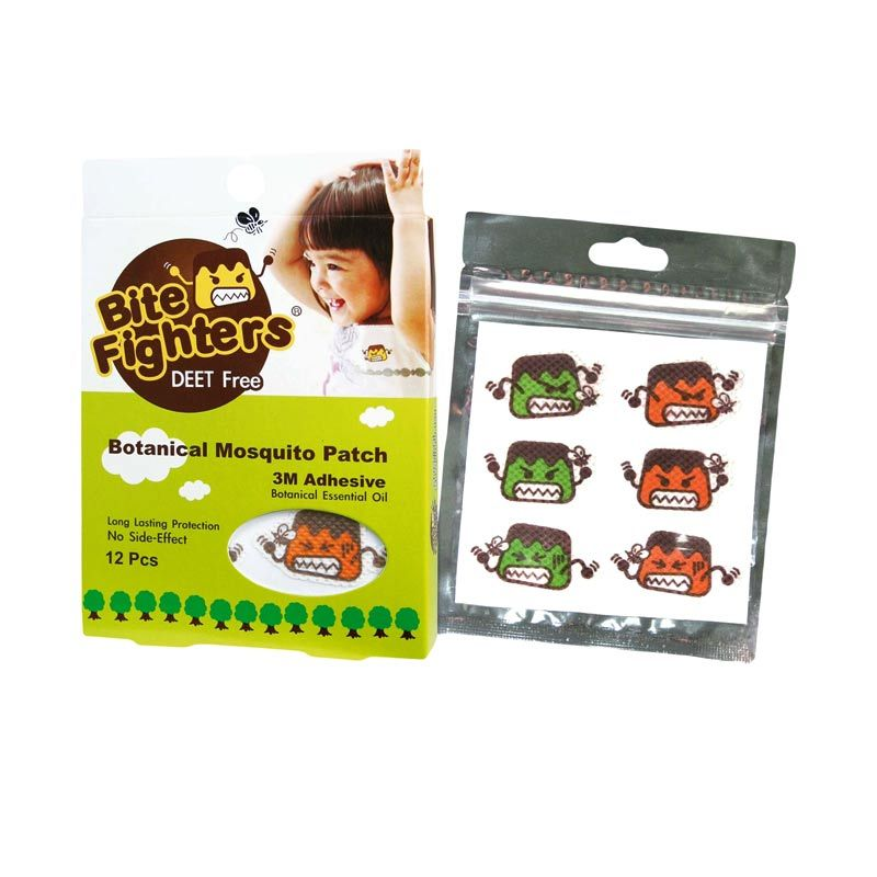 Bite Fighters Botanical Mosquito Patch Stiker Anti Nyamuk [12 Pcs]
