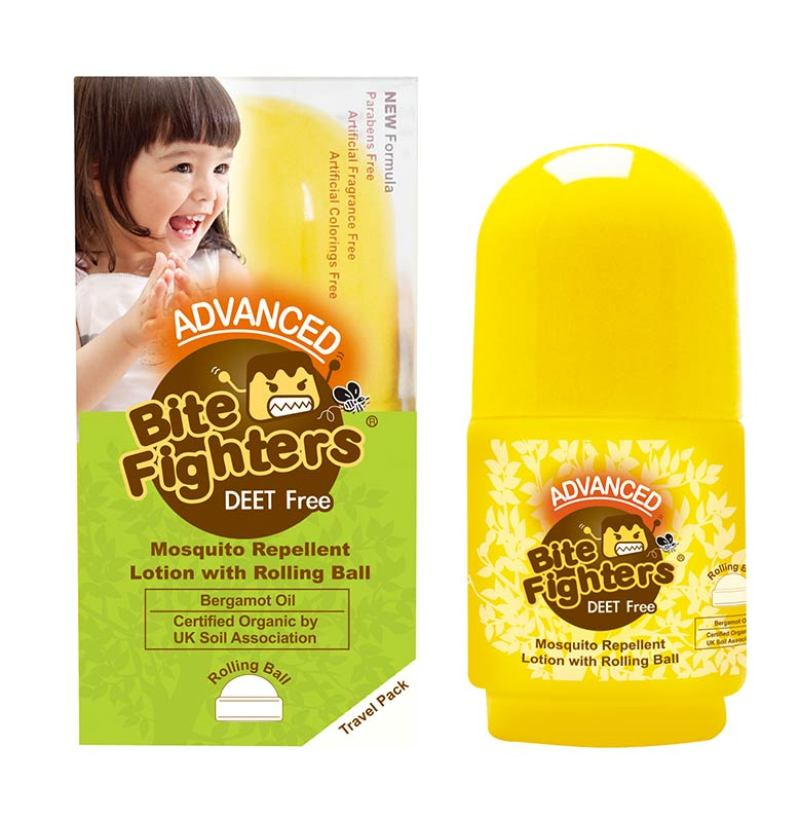 Bite Fighters Mosquito Repellent with Rolling Ball Lotion Anti Nyamuk [30 mL]
