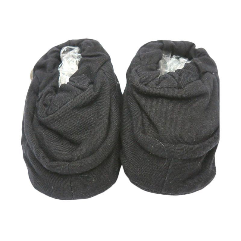 Cribcot Booties Plain Dark Grey Kaos Kaki