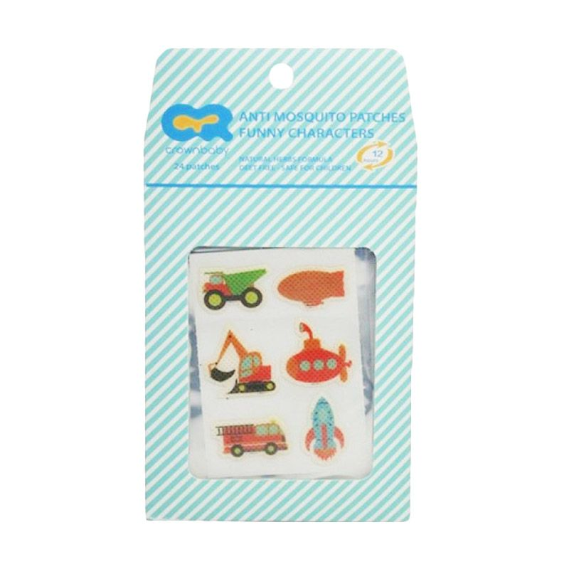 Crown Funny Characters Anti Mosquito Patch Stiker Anti Nyamuk [24 Pcs]