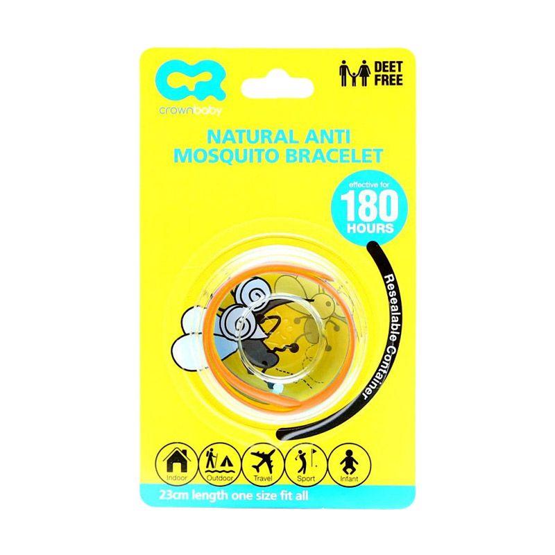 Crown Natural Orange Anti Mosquito Bracelet Gelang Anti Nyamuk