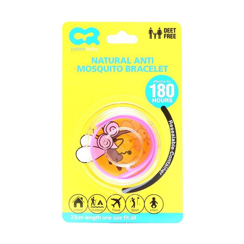 Crown Natural Pink Anti Mosquito Bracelet Gelang Anti Nyamuk