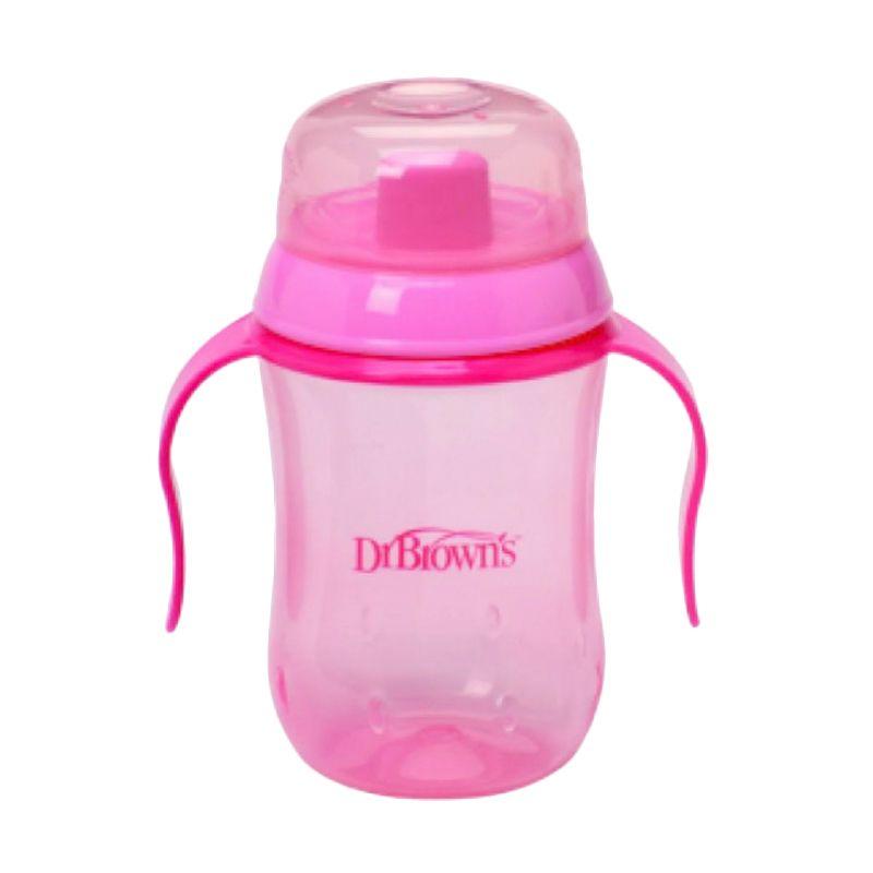 Dr. Brown's Hard Spout Cup Gelas Pink Training Cup Gelas [9 Bulan+]