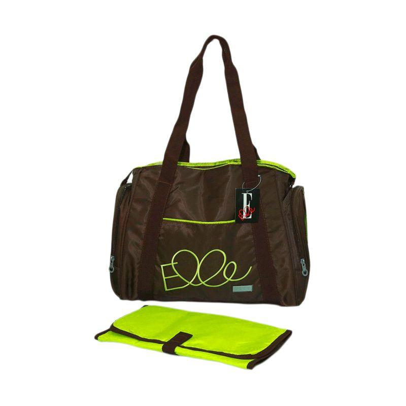 Elle Diaper Shoulder Bag Brown Tas Bayi
