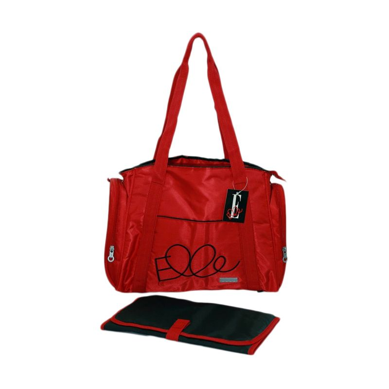 Elle Diaper Shoulder Bag Red Tas Bayi