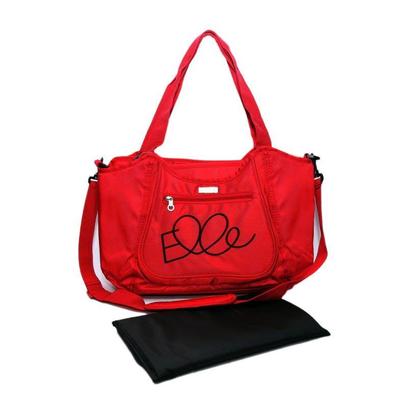Elle Diaper Sling Bag Red Tas Bayi