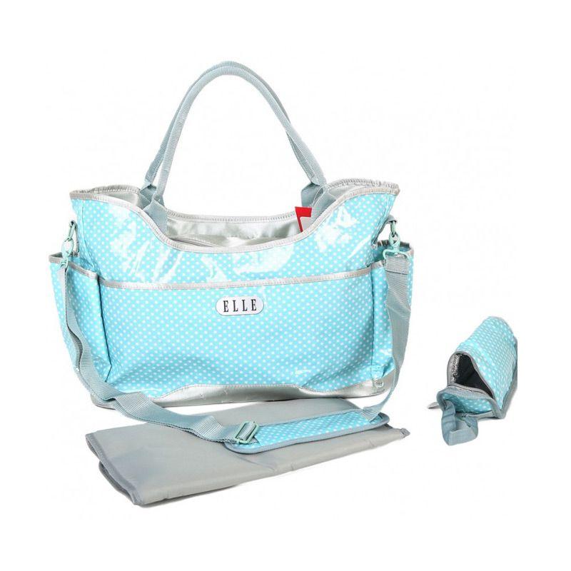Elle Polkadot Diaper Sling Bag Blue Tas Bayi