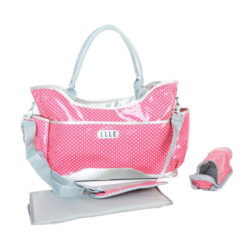 Elle Polkadot Diaper Sling Bag Pink Tas Bayi