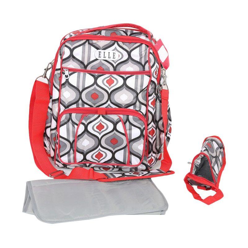 Elle Red Diaper Backpack [2 in 1]