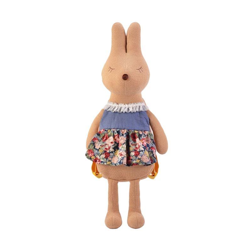 Emily Labels Backpack Bunny Series Navy Flower Tas anak