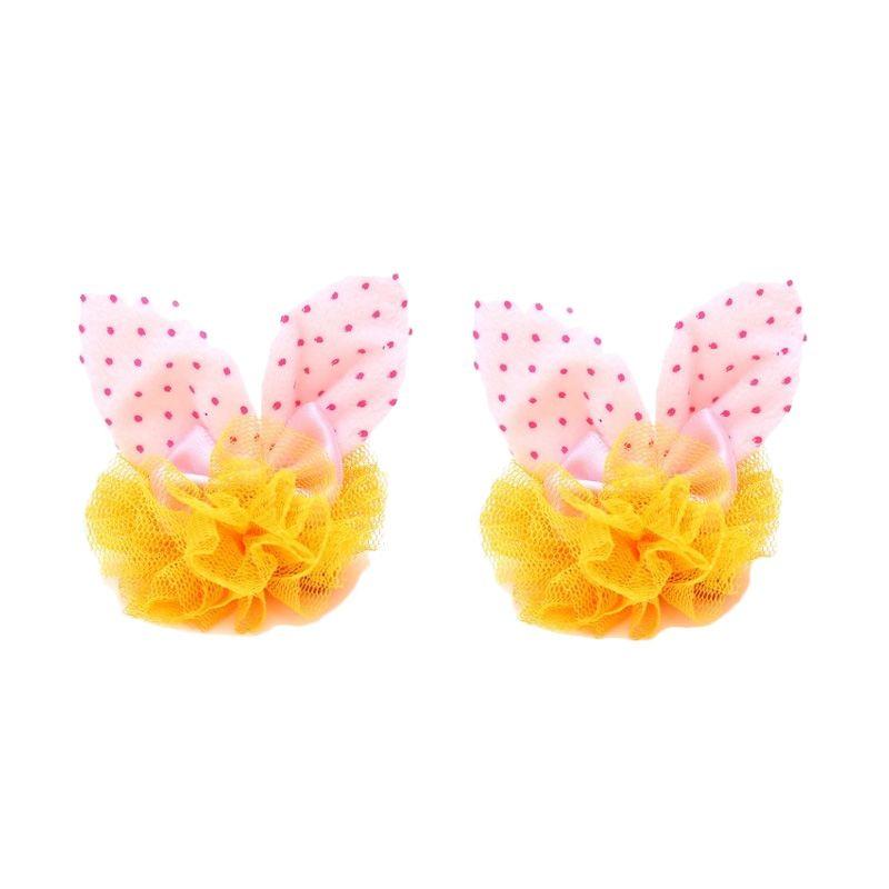 Emily Labels Bunny Ear Light Pink Clip Jepit Rambut [2 pack]