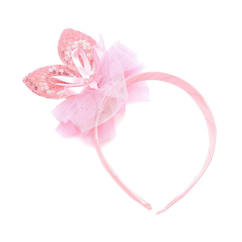 Emily Labels Bunny Ear Light Pink Headband