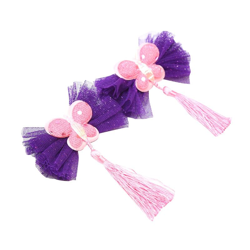 Emily Labels Butterfly Hairbow Purple Butterfly Tutu