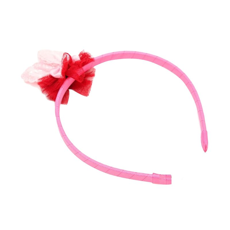 Emily Labels Rabbit Ear Pink Bando