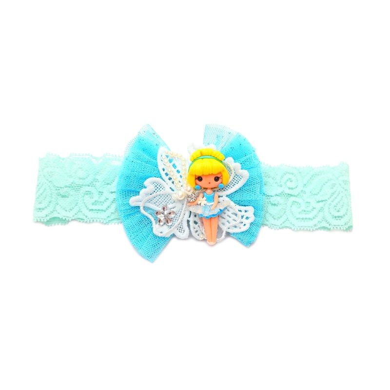Emily Labels Tutu Clay Blue Headband