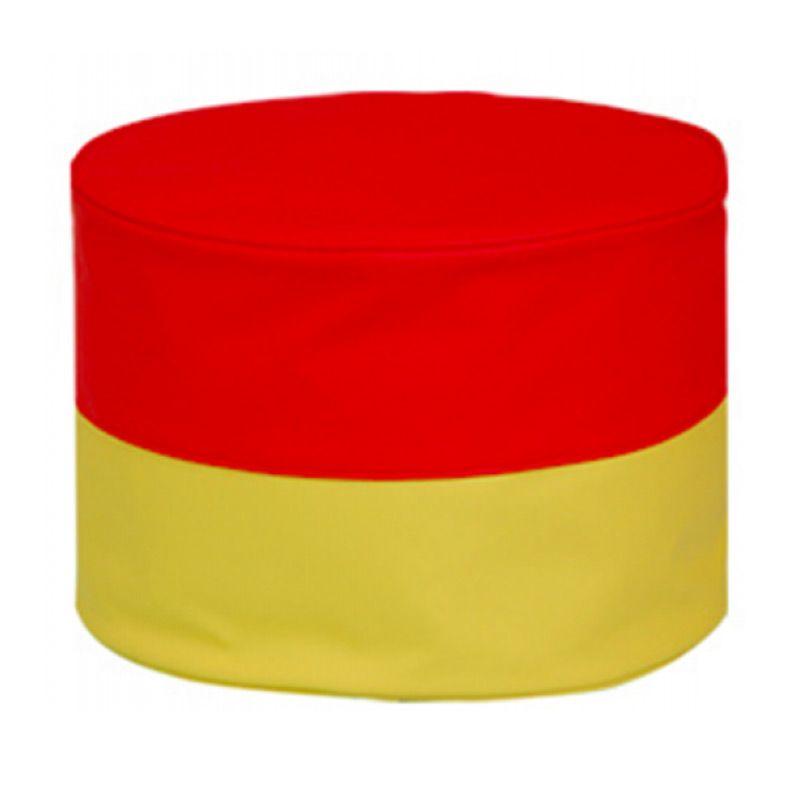 Foldaway Mini Stool Rainbow Red Yellow Bean Bag