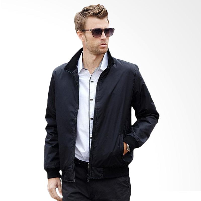 Bafash Jaket Men Sportwear Windcheater - Black