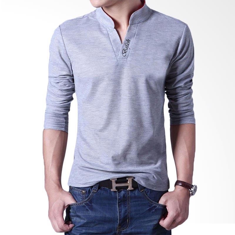 Bafash Men's Poloshirt Casual Kaos Polo Pria - Grey