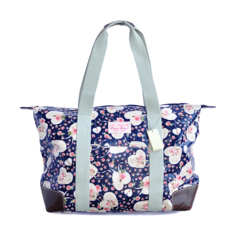 Candy Flowers Georgia Lover Flowers Blue Tas Tangan