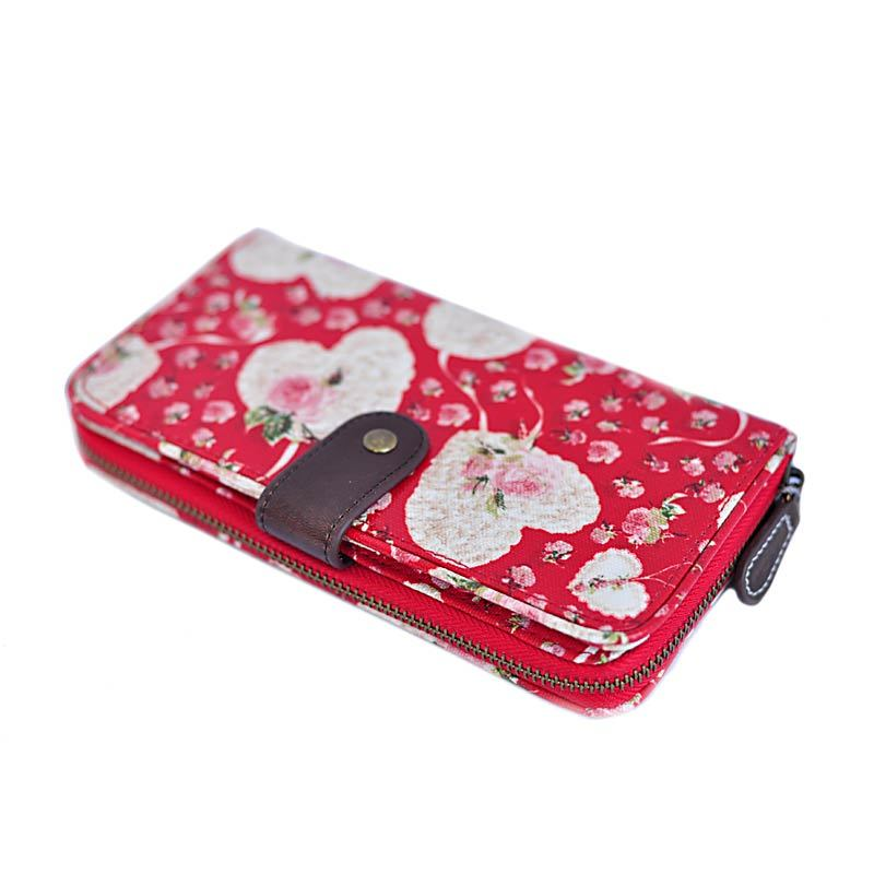 Candy Flowers Harmony Love Flowers Red Wallet