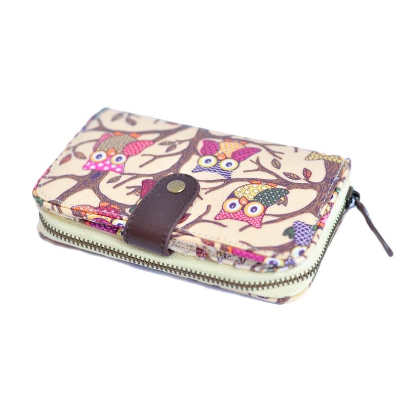 Candy Flower Hedy Owls Beige Dompet