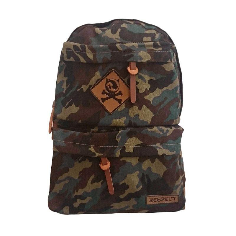Bag & Stuff Navy Army Respect Coklat Tas Ransel