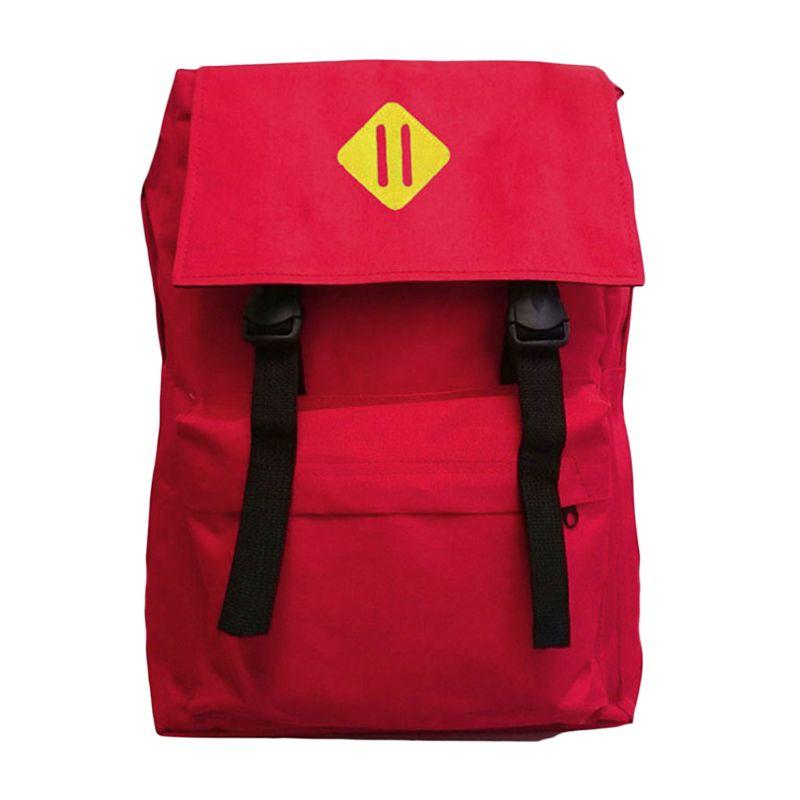 Korean Compact Merah Tas Ransel