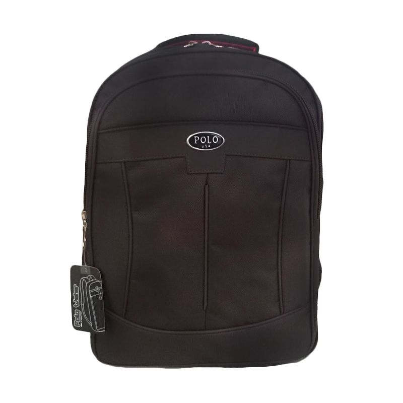 Polo Decker Backpack Dark Brown Tas Ransel