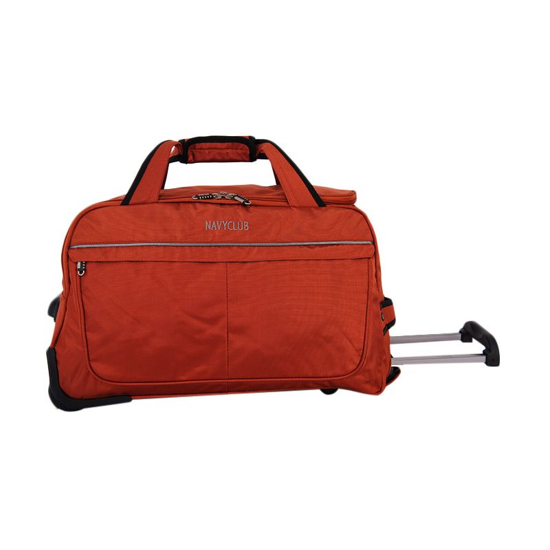 Navy Club 2036 Orange Trolley Bag Tas Travel