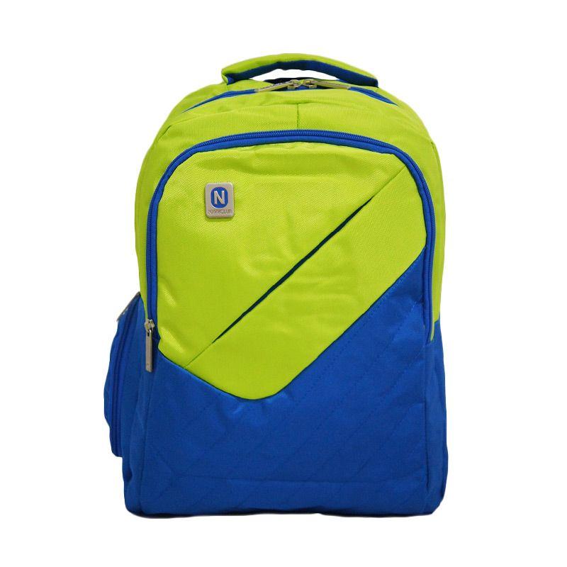 Navy Club 3267 Hijau Tas Ransel Pria + Bag Cover
