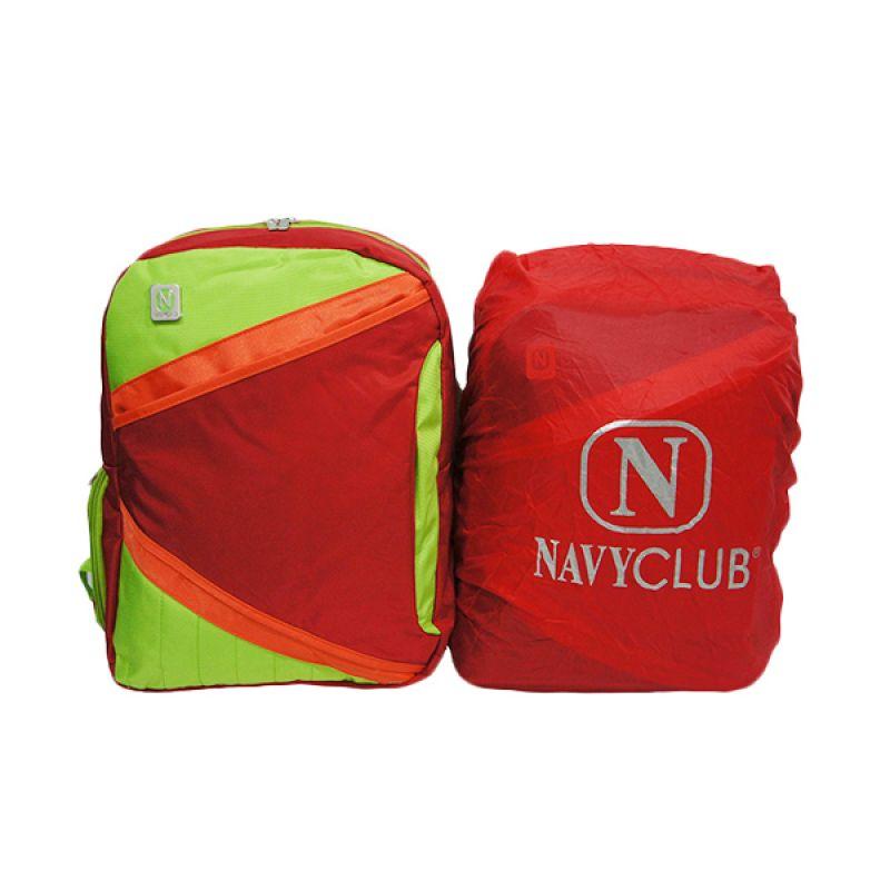 Navy Club 3270 Merah Tas Ransel Pria + Bag Cover