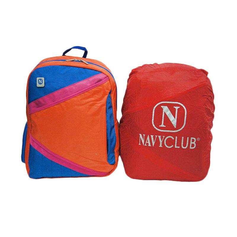 Navy Club 3270 Orange Tas Ransel Pria + Bag Cover