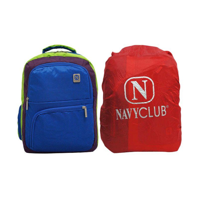 Navy Club 3273 Hijau Tas Ransel Pria + Bag Cover