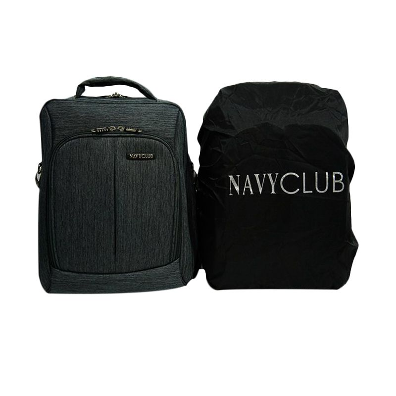 Navy Club 5737 Hitam Backpack Tas Ransel [3 in 1] dan Cover