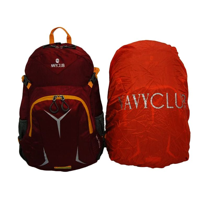 Navy Club 9051 Merah Backpack Tas Ransel dan Cover