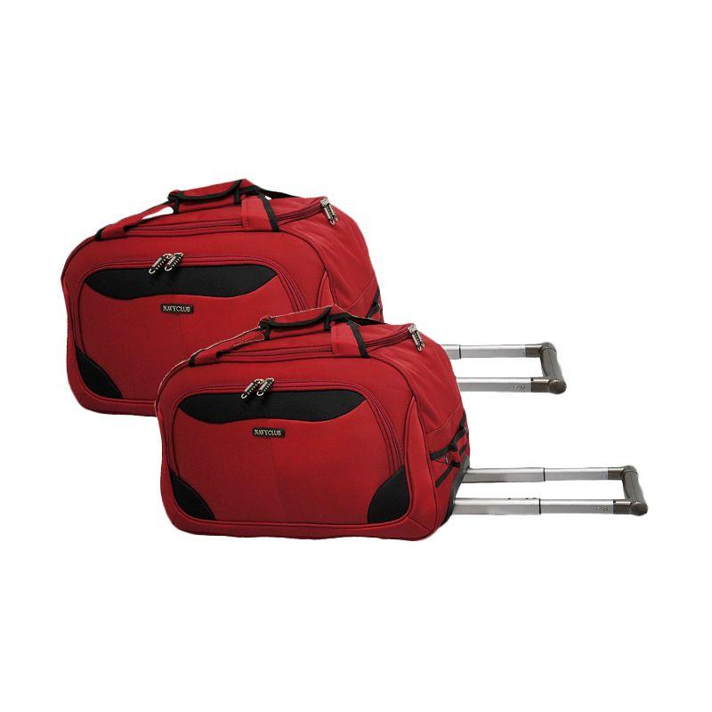 Navy Club Cabin Trolley 7047/20/24 Merah Set Travel Bag [2 Pcs]