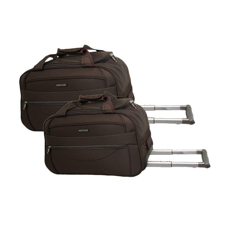 Navy Club Cabin Trolley 7048/20/24 Coklat Set Travel Bag [2 Pcs]