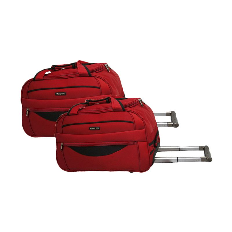 Navy Club Cabin Trolley 7048/20/24 Merah Set Travel Bag [2 Pcs]