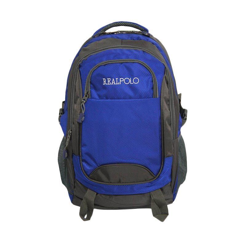 Real Polo Jumbo 6282 Biru Tas Ransel [with Bag Cover]