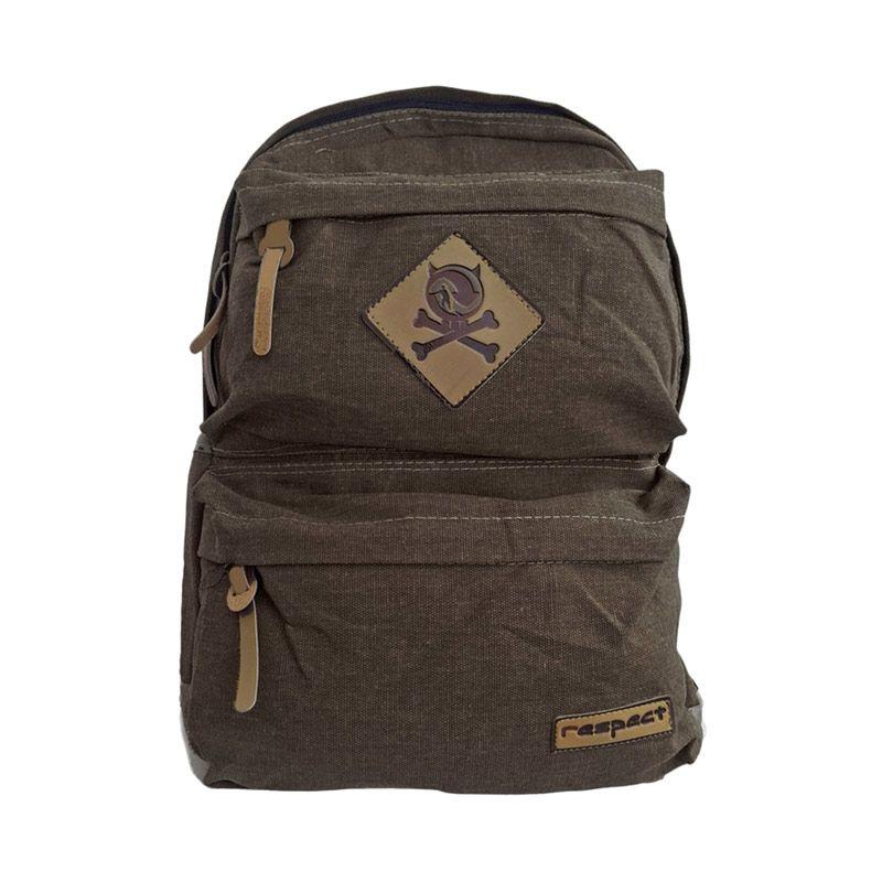 Bag & Stuff Canvas Respect Coklat Kopi Backpack Tas Ransel Pria
