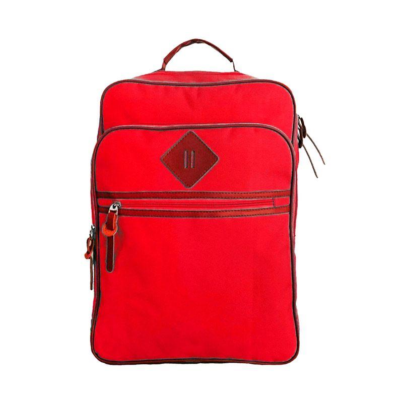 Bag & Stuff Jsport Korea Merah Backpack Tas Ransel Wanita