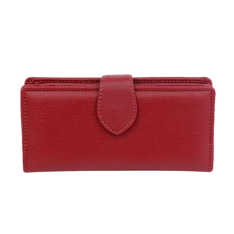 harga Baglis Palm Wallet Dompet Wanita - Merah Tua Blibli.com