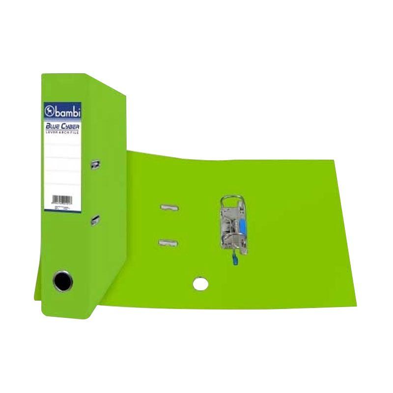 Bambi 1010 Lever Arch File Fluoro Hijau Binder