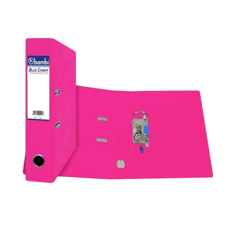 Bambi 1010 Lever Arch File Fluoro Pink Binder