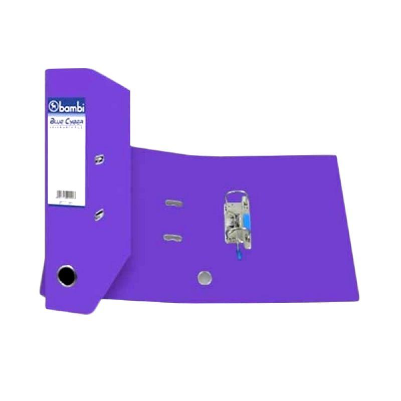 Bambi 1010 Lever Arch File Fluoro Ungu Binder