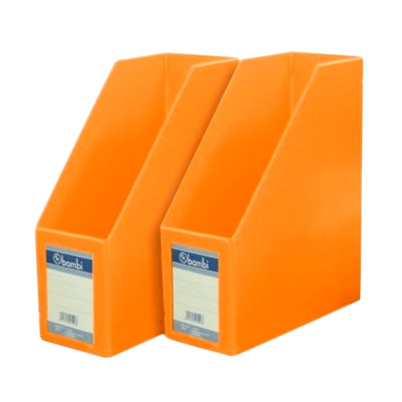 Bambi 1033 Magazine File Fluoro Orange Files Folio