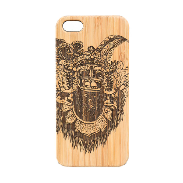 BatikGeek Bamboo Slim Version Barong Dance Casing for iPhone 5 or 5s