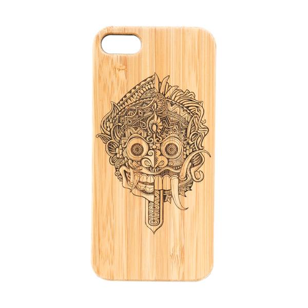 BatikGeek Bamboo Slim Version Barong Rangda Casing For Iphone 5/5s