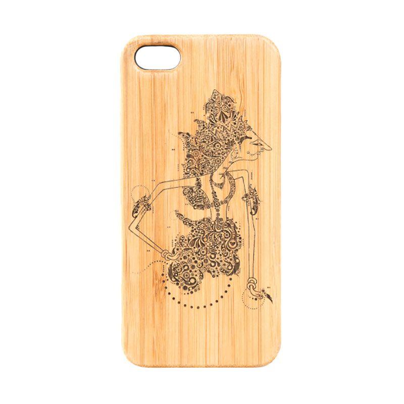 BatikGeek Bamboo Slim Version Rama Casing for iPhone 5 or 5s