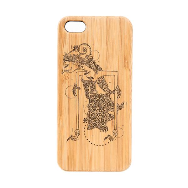 BatikGeek Bamboo Slim Version Shinta Casing for iPhone 5 or 5s